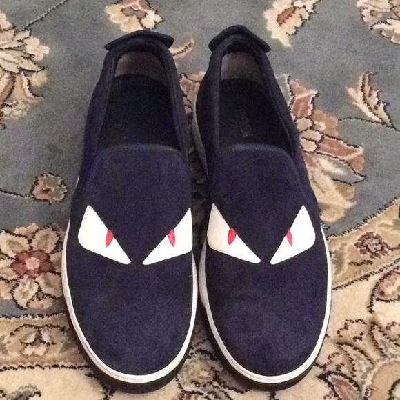 155e11ff Fendi Monster Suede Slip-on sneakers